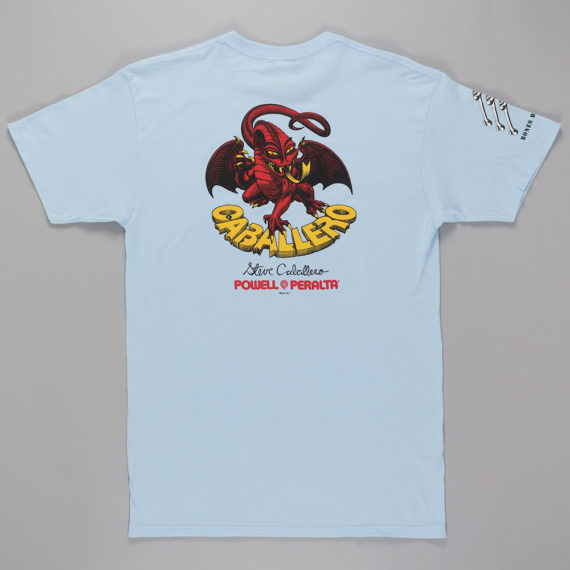 Clearance - Powell-Peralta_T-Shirt-Caballero-Dragon-Brigade-Light-Blue