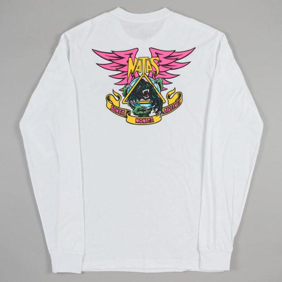 Santa Cruz Natas Panther Long Sleeve T-Shirt White