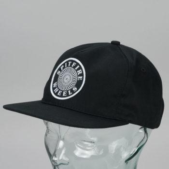 Spitfire OG Classic Swirl Snapback Hat Black