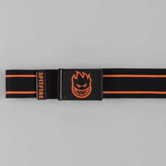 Spitfire Bighead Stripes Belt Black Orange