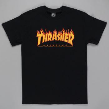 Thrasher Magazine Flame Logo T-Shirt Black