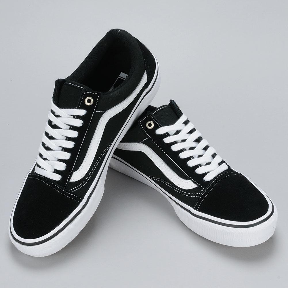 Vans Old Skool Pro Shoes Black White Available at Skate Pharm