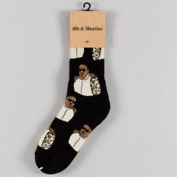 40's And Shorties Biggie Socks Black