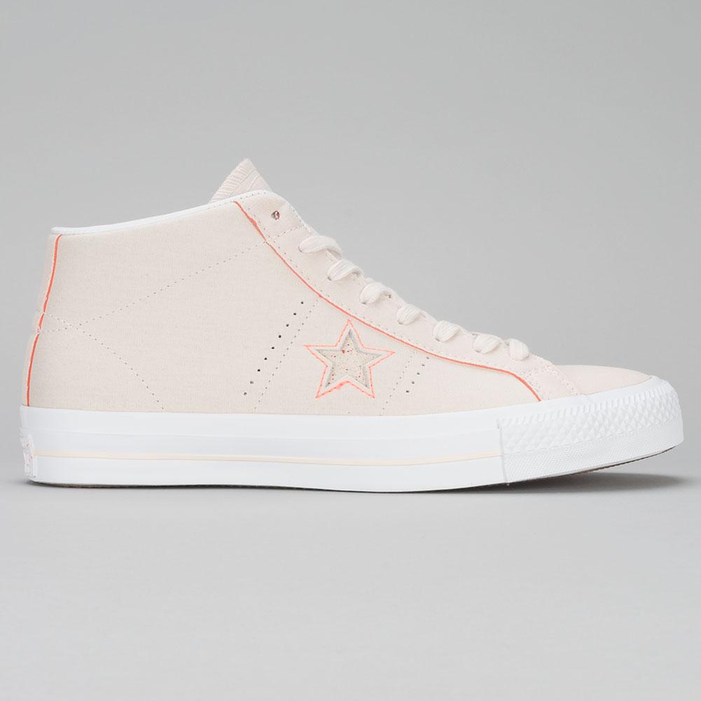 ae54fce3f95 Converse One Star Pro Mid Shoes Natural Orange White at Skate Pharm