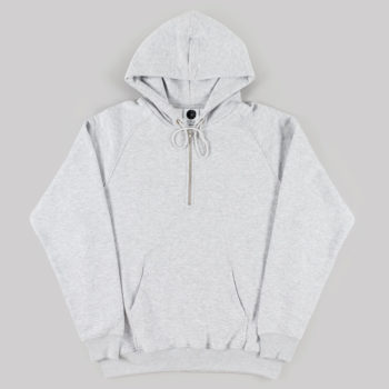 Polar Skateboards Half Zip Hoodie Sport Grey