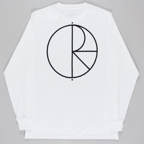 Polar Cut Out Fill Logo Long Sleeve T-Shirt White
