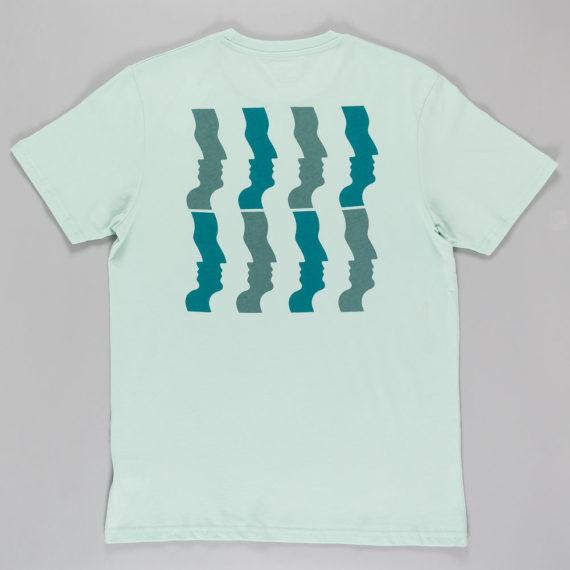 Polar Skateboards Wavy Faces T-Shirt Aqua