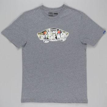 Vans Black Decay Palm Fill T-Shirt Grey