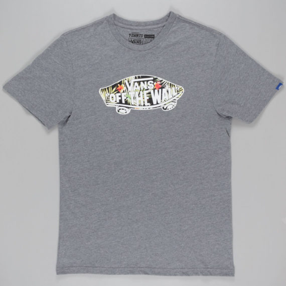 Vans Black Decay Palm Fill T-Shirt Grey