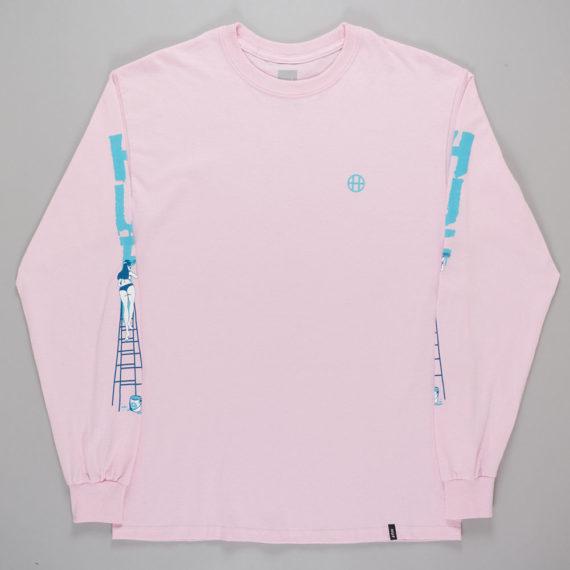 Huf Ladder Long Sleeve T-Shirt Pink