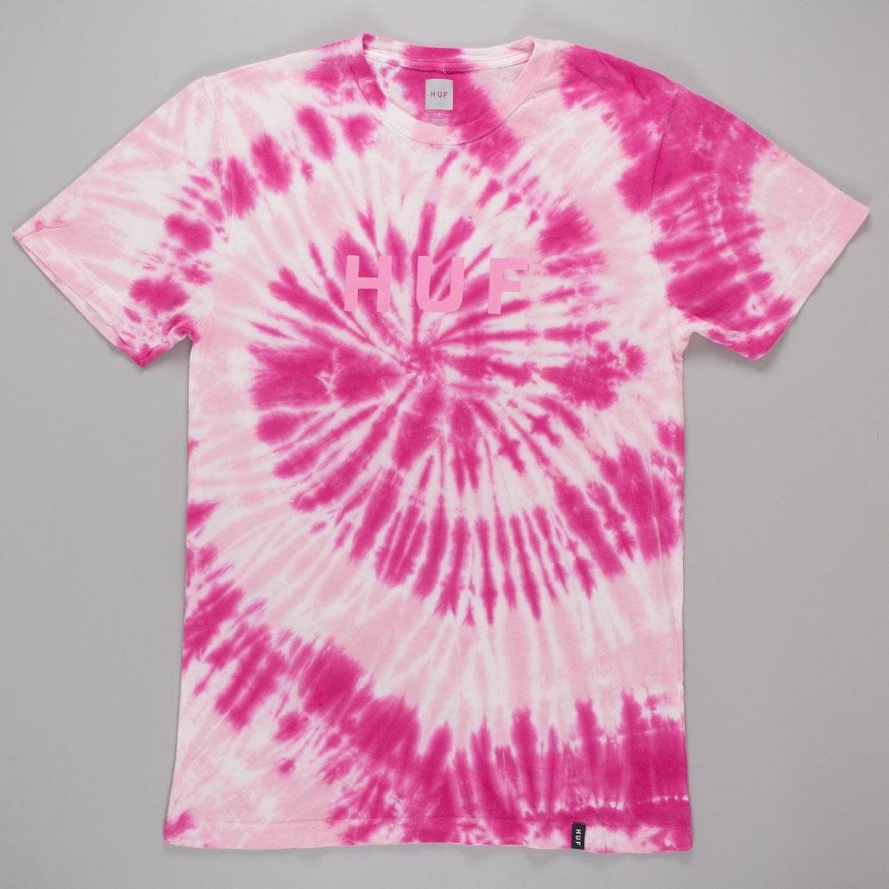 Huf Tonal Og Tie Dye T Shirt Pink Available At Skate Pharm