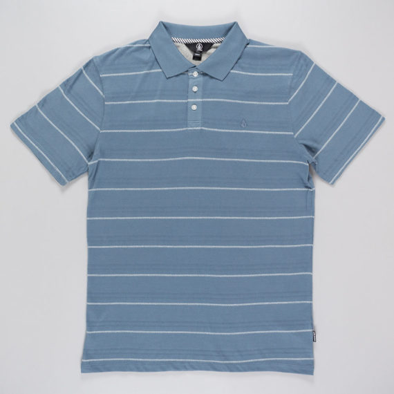 Volcom Wowzer Stripe Polo Shirt Ash