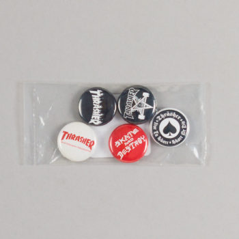 Thrasher Logo Badges Pack Of 5