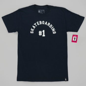 Girl Skateboards Number 1 T-Shirt Navy