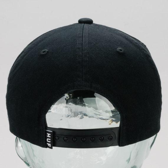 Huf Wash Box Logo Snapback Hat Black