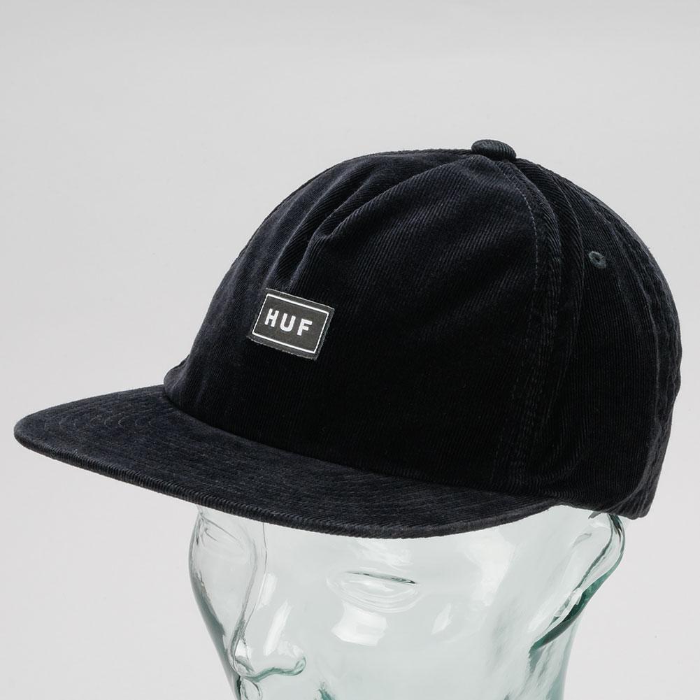 2a0a89e11a4e Buy Huf Corduroy Bar Logo Snapback Hat Black Available at .