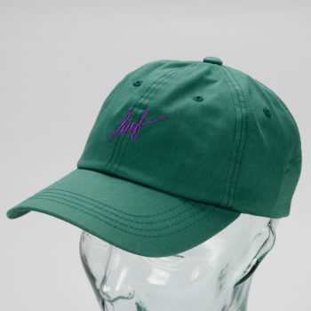 Huf Script Curved Brim 6 Panel Hat Spruce