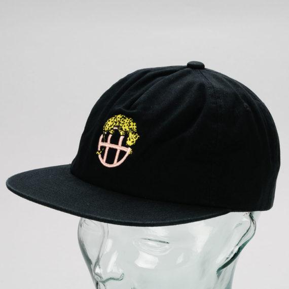 Huf Leopard Snapback Hat Black
