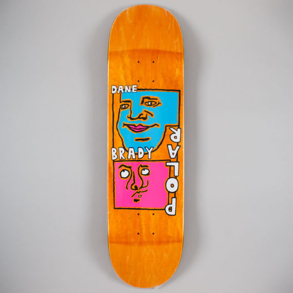 "Polar Skateboards Dane Brady Self Portrait Deck 8.5"""