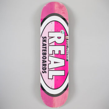 "Real Skateboards 50-50 Oval Deck 8.25"" Pink"