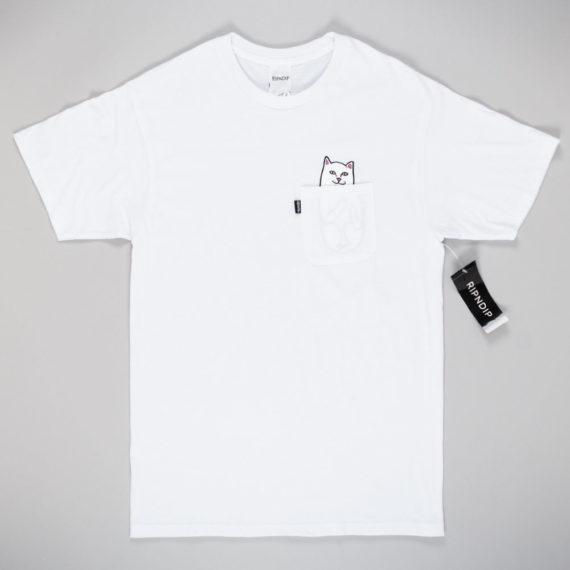 Rip'N'Dip Lord Nermal Pocket T-Shirt White