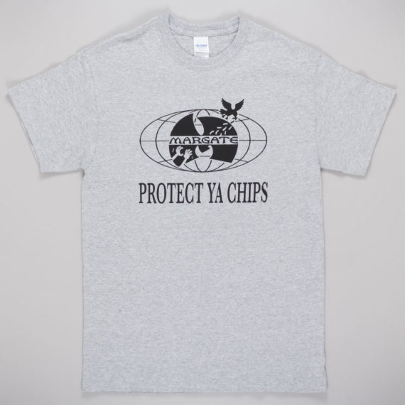 Unofficial Margate Protect Ya Chips T-Shirt Grey