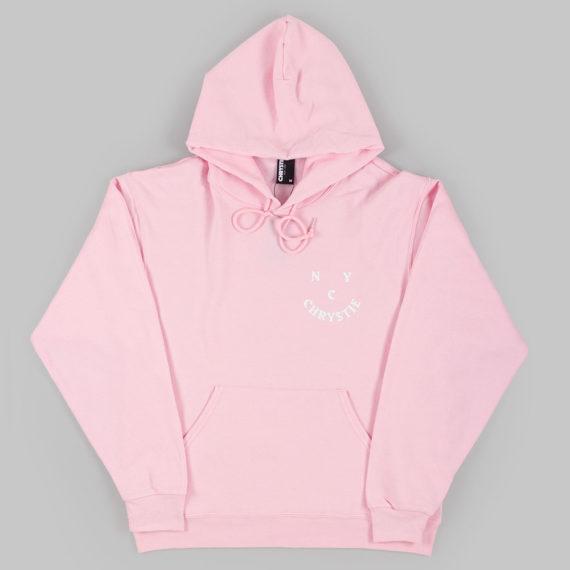 Chrystie NYC Face Logo Hoodie Pink