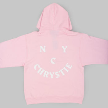 Chrystie NYC Face Logo Hoodie Pink