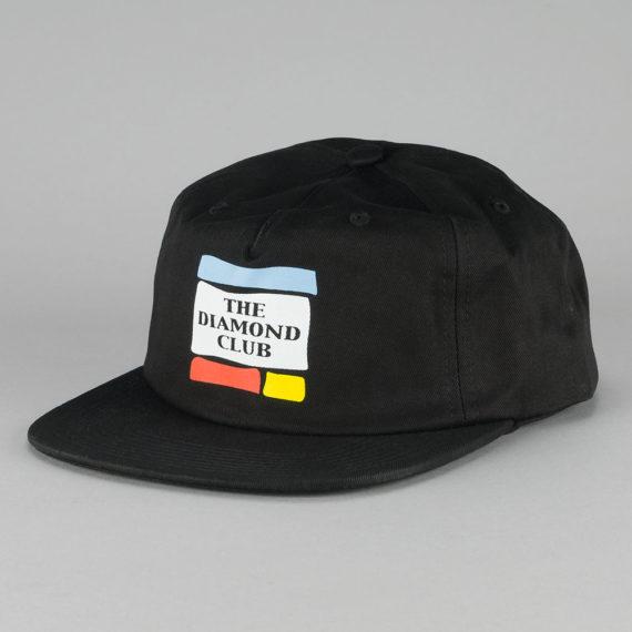 Diamond Diamond Club Snapback Hat Black