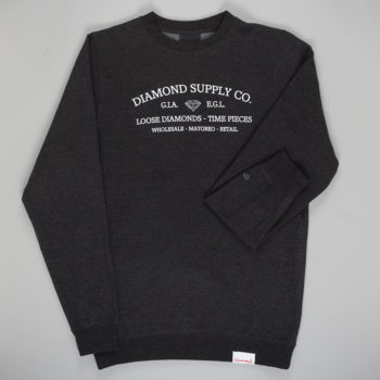 Diamond Timepiece Crewneck Sweatshirt Charcoal