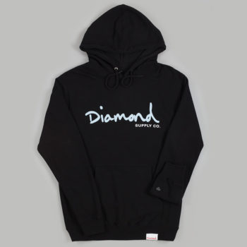 Diamond Brilliant Scripts Hoodie Black