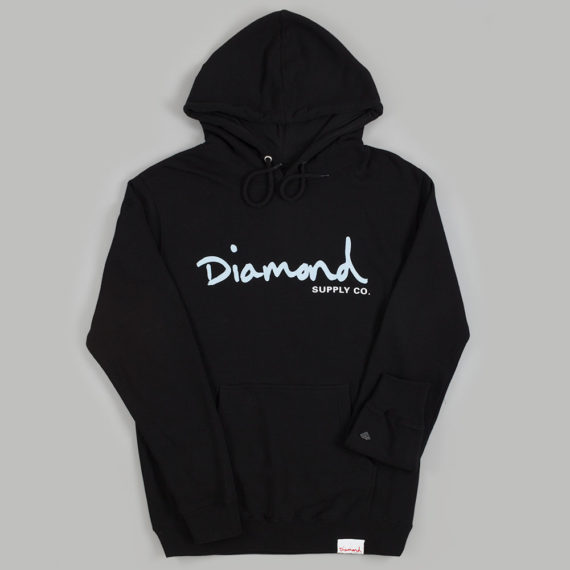 Diamond Brilliant Scripts Hoodie Black