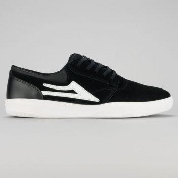 Lakai Griffin XLK Shoe Black White Suede