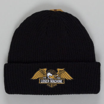 Loser Machine Frank Cuff Beanie Black