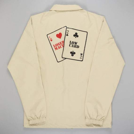Loser Machine x Low Card Loaded Deck Coach Jacket Khak