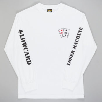 Loser Machine x Low Card Gambler Long Sleeve T-Shirt White