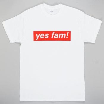 Yes Fam! Logo T-Shirt White Red