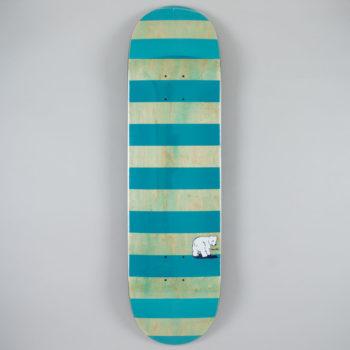 "Polar Skateboards Block Stripe Deck 8.625"" Mint Teal"