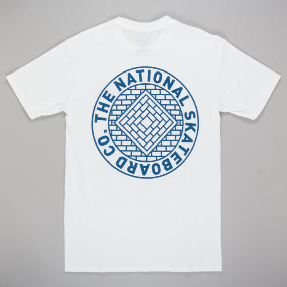 The National Skateboard Co Union T-shirt white back
