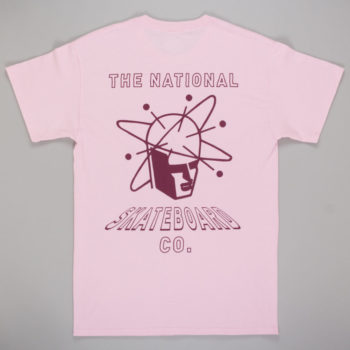 The National Skateboard Co Spin T-shirt pink back