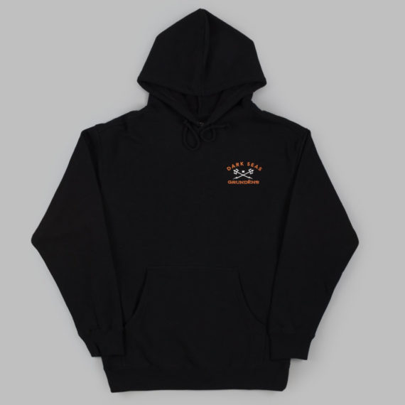 Dark Seas Clothing x Grundens Fleece Hoodie Black
