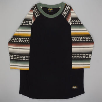 Loser Machine Clothing Banks Raglan T-Shirt Black