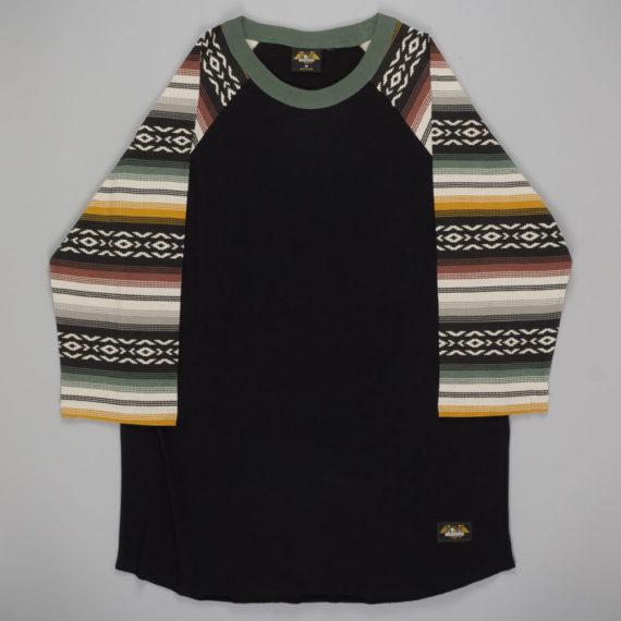 Loser Machine Clothing Banks Raglan T-Shirt Black