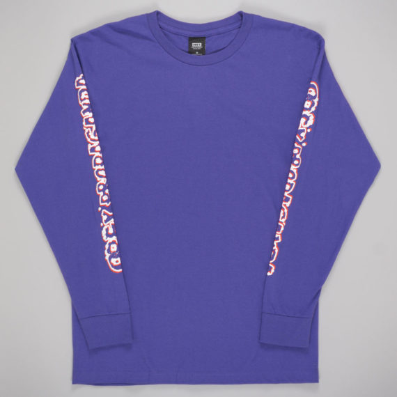 Obey Clothing Public Opinion Long Sleeve T-Shirt Purple