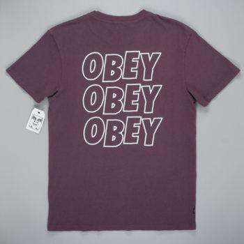 Obey Clothing Jumble Lo-Fi T-Shirt Dusty Eggplant