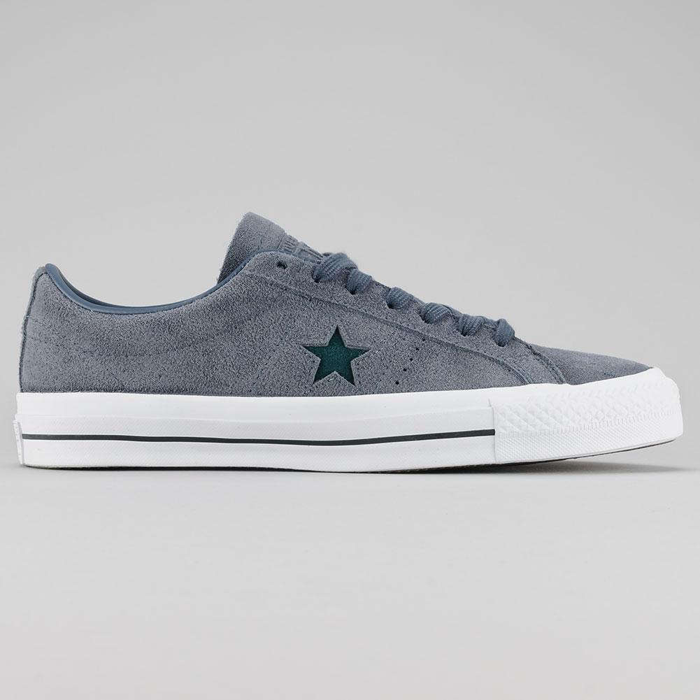 94a23126fe1cbe Converse One Star Pro OX Shoes Sharkskin Atomic Teal