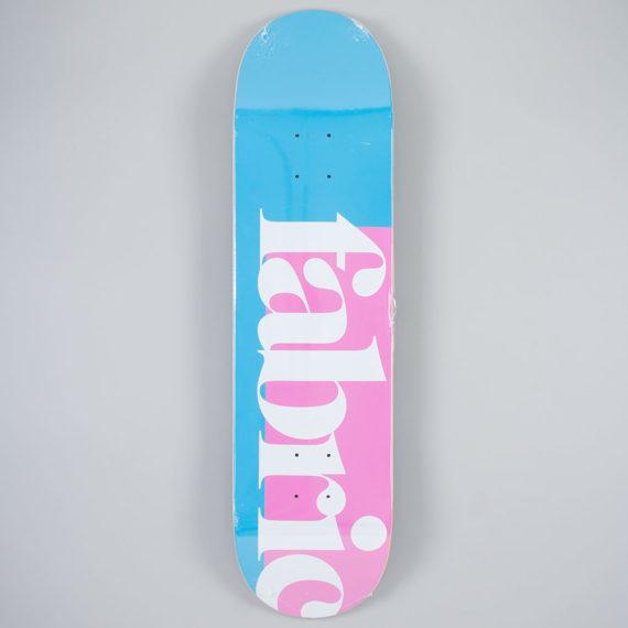 "Fabric Skateboards 1734 Deck 8.25"" Blue Pink"
