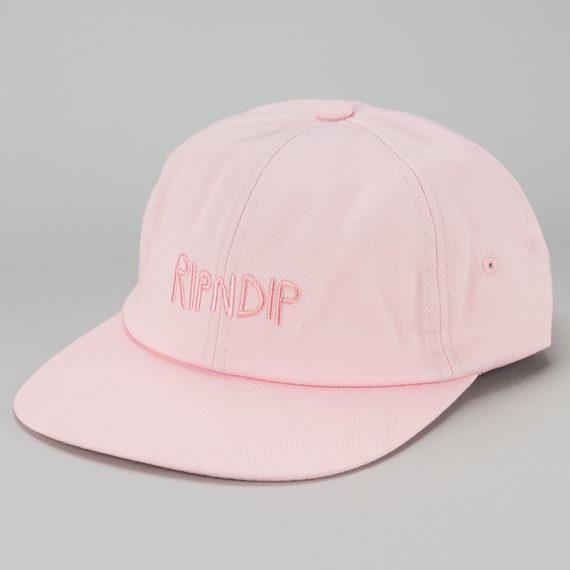 Rip'N'Dip Tonal Logo 6 Panel Hat Pink