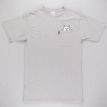 Rip'N'Dip Lord Nermal Pocket T-Shirt Grey