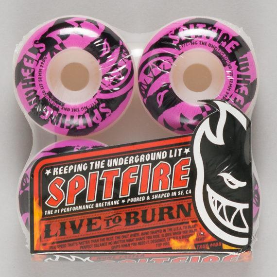 Spitfire Wheels Shredded Pink Logo 52mm